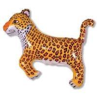 Фольгированный шар (36''/91 см) Фигура, Леопард, Черный