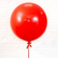 Шар гигант «№9» Красный 61см