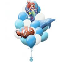 Фонтан из шаров русалочка