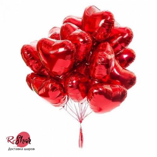 Фонтан и шаров на 14 февраля, сердца №755