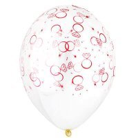 Воздушные шары с гелием прозрачные, кольцо с бриллиантом, предложение 36см