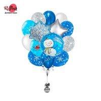 Композиция из воздушных шаров с гелием на новый год Елка №2022