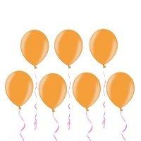 Шары под потолок «Оранжевый» Металлик