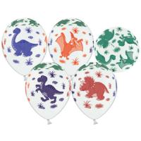 Воздушные шары с гелием с рисунком «Динозаврики»