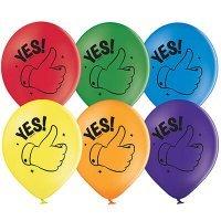 Воздушные шары с гелием с надписями Yes 36см