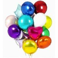 Облако из шаров «Фольгированный микс» 17 шт