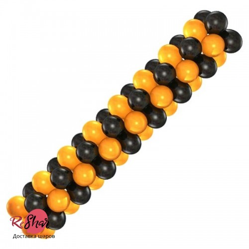 Гирлянда Чёрно-Оранжевая для оформления, цена за 1м