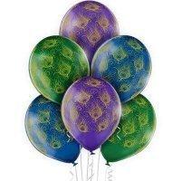 Воздушные шары с гелием Перья Павлина, 36см