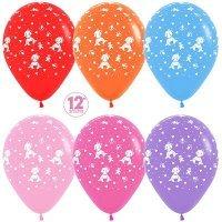 Воздушные шары с гелием с рисунком «На выписку для девочки»