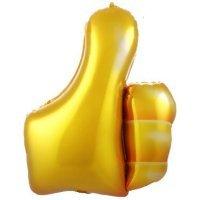 Фольгированный шар (33''/84 см) Фигура, Лайк, Золото