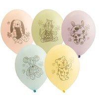 Воздушные шары с гелием зверюшки-игрушки, ассорти 36см