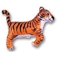 Фольгированный шар (36''/91 см) Фигура, Тигр, Черный