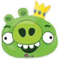 Воздушный шар с гелием фигура Angry Birds Король Свиней 58см