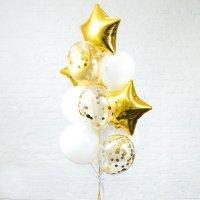 Композиция из воздушных шаров «Золотое настроение» №91