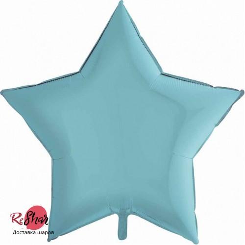 Фольгированный шар звезда «Голубой» (46см.)